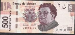 MEXICO P126e  500 PESOS  12.6.2012  Serie X       VF - Mexique