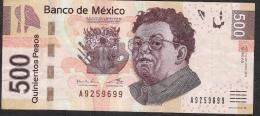 MEXICO P126g ?  500 PESOS  19.12.2012  Serie AA      VF - Mexico