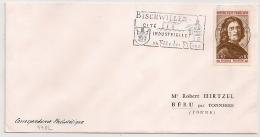 BISCHWILLER Bas Rhin Sur Enveloppe. - Postmark Collection (Covers)