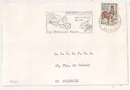 DAMBACH LA VILLE  Bas Rhin Sur DEVANT D' Enveloppe. 1966. - Postmark Collection (Covers)