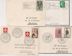 SAVERNE Bas Rhin Sur 4 Devants D'enveloppe. - Postmark Collection (Covers)