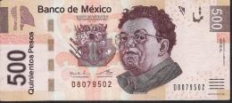 MEXICO P126j ?  500 PESOS  4.4.2014  Serie AL     VF - Mexico