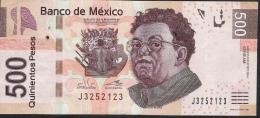 MEXICO P126j  500 PESOS  27.10.2014  Serie AM     VF - Mexico
