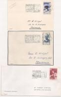 SELESTAT Bas Rhin Sur 2 Devants Et Une Enveloppe. - Postmark Collection (Covers)