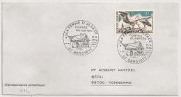 BERSTETT Bas Rhin Sur Enveloppe. 1974 - Postmark Collection (Covers)