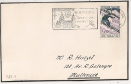 WANGANGOURG Bas Rhin Sur Devant D'enveloppe. 1962. - Postmark Collection (Covers)