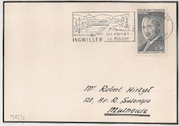 INGWILLER Bas Rhin Sur Devant D'enveloppe. 1962. - Postmark Collection (Covers)
