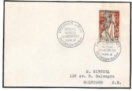 NATZWILLER Bas Rhin Sur Devant D'enveloppe. 1956. Déportation. - FDC