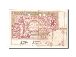 Belgique, 20 Francs, 1913, KM:67, 1913-01-18, TTB - [ 2] 1831-... : Royaume De Belgique