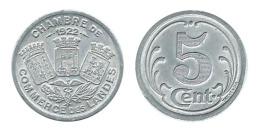 N2684 - Landes: Chambre De Commerce: 5 Ct 1922 (SUP) - Monétaires / De Nécessité