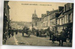 50 VILLEDIEU Les POELES Le Marché Dans La Rue écrite Du Bourg En 1907   /D14-2016 - Villedieu