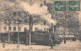 LYON  -  Boulevard De La Croix Rousse  -  Le Chemin De Fer Des DOMBES ( Beau Plan ) - Lyon