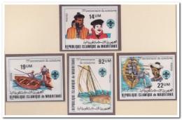 Mauritanië 1982 Imperf., Postfris MNH, Transport, Boats, Scouting - Mauritanië (1960-...)