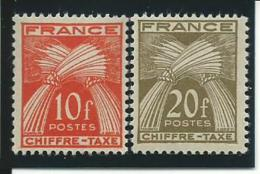 FRANCE: **, TAXE N°76 Et 77, TB - Portomarken