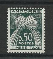 1961 - ANDORRE - TAXE YVERT N° 45 ** - COTE = 32.5 EUROS