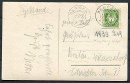1933 Norway Bergen Haakonshallen Postcard 7ore - Berlin, Germany - Norway