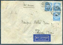 1937 Germany Berlin BEKAFA Berliner Knopf Fabrik Airmail Cover - Banque Mellie, Teheran, Iran Persia - Briefe U. Dokumente