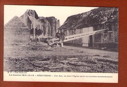 1 Cpa Hebuterne Une Rue - Guerra 1914-18