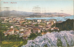 LA SPEZIA - MIGLIARINA PANORAMA CON STAZIONE - FORMATO PICCOLO - VIAGGIATA - (rif. S50) - La Spezia