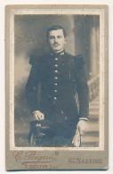 Militaire, Photographie F. Bertin, Ancienne Maison C. Peigné, Rue Du Prieuré, Saint-Nazaire, N° 64 Sur Col De Veste - Photographs