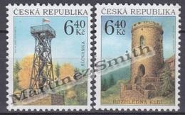 Czech Republic - Tcheque 2003 Yvert 333/ 34, Watchtowers - Slovanka De Jablonka & Klet Tower  - MNH - Tchéquie