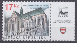 Czech Republic - Tcheque 2004 Yvert 358 - Religious Building - Assumption Of The Blessed Virgin Mary Church, Brno - MNH - Tchéquie