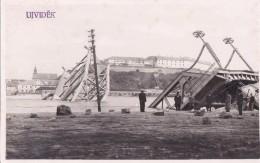 Serbia - Srbija  Novi Sad - Ujvidek Petrovaradinski Most Srusen 1941 (original Fotografija) - Serbie