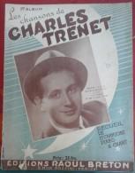 Les Chansons De Charles TRENET Recueil De 15 Chansons Pianos Et Chant Album N° 1 Editions Raoul BRETON - Partitions Musicales Anciennes