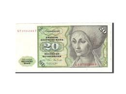 République Fédérale Allemande, 20 Deutsche Mark, 1970, KM:32a, 1970-01-02,... - [ 7] 1949-… : RFA - Rép. Féd. D'Allemagne