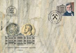 SERBIA 2016, GEOLOGY,OLD COIN,FOSSIL,125 YEARS OF GEOLOGICAL SOCIETY  IN SERBIA,MNH,FDC - Serbia