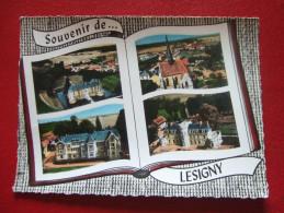 77 - LESIGNY - SOUVENIR DE... LESIGNY - LIVRE OUVERT DE 4 CARTES... - Lesigny