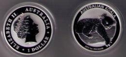 AUSTRALIA 2012 - 1 DOLAR DE PLATA  (1 OZ) KOALA - Monedas