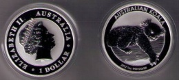 AUSTRALIA 2012 - 1 DOLAR DE PLATA  (1 OZ) KOALA - Monnaies