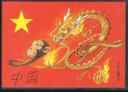 Astrologie Chinoise : Année Du Singe - Tirage 500 Exemplaires Pierre Oriol - Carte Neuve - Postkaarten