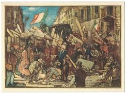 IT38     Le Cinque Giornate Di Milano (Le Barricate )1848-1948 Giuliano Cisari - Patriottiche