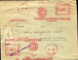 13787 Italia,red Meter/freistempel/EMA/affrancatura Rossa/modena 1932 Officine Costruzioni Industriali , Circuled Regist - Affrancature Meccaniche Rosse (EMA)