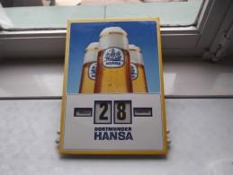 KALENDER Dortmunder HANSA Drehkalender Dag/Maand ( IMOGLANZ Wuppertal - Barmen / Zie Foto´s ) ! - Alcohols