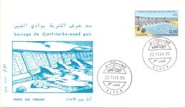 ALGERIE Earthfill Dam  ELETRIC 1969 ALGER FDC  (SET160384)
