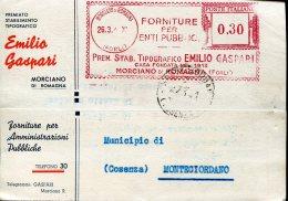 13795 Italia,red Meter/freistempel/EMA/affrancatura Rossa/, Morciano Romagna Forli 1941 Forniture Per Enti, Circuled - Affrancature Meccaniche Rosse (EMA)