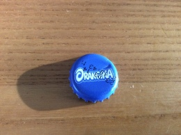 "Capsule De Soda ** ""ORANGINA"" écriture Blanc Sur Fond Bleu FF - Soda"
