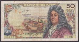 France - 50 Francs - P.148d (Vergnes/Bouchant/Morant 1974) - VG+ - 50 F 1962-1976 ''Racine''