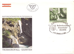 OSTERREICH  WATERFALL 1986  FDC  (SET160385) - Geology