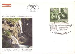 OSTERREICH  WATERFALL 1986  FDC  (SET160385) - Géologie