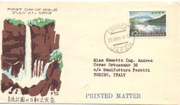 JAPPAN OKAYAMA  WATERFALL 1959  FDC  (SET160386) - Altri