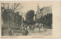 Kaliningrad Former German Gruss Aus Eydtkuhnen Bilderweitscherstrasse P. Used 1903 Edit Elise Becker - Russia