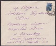 Russland Brief 1941  Mit 30 Kopeken Frankatur Flieger Pilot Propellermaschine