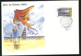 Le Timbre Fête L´Air -  Vents Ultramarins Y&T N° AA 899 - Fête Du Timbre 2013 Sur Enveloppe - France