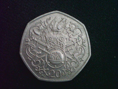 ISLE OF MAN 20 Pence 1982 AC XF Viking Arms & Armour LOW MINTAGE 30,000 - Regional Coins
