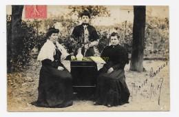 CPA 16 AIGRE Carte Photo 1907 Femmes Autour D'une Commode , Charente - France