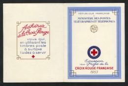 Carnet Croix-Rouge Française, Markenheft Rotes Kreuz, 1953,  ** / Neuf - Cruz Roja
